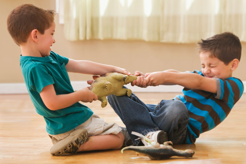 两个孩子抢玩具怎么办