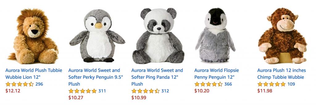 美国畅销毛绒玩具推荐