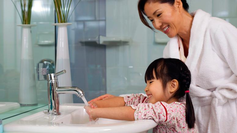 美国宝宝洗手方法