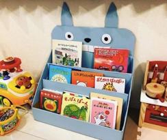 美国妈妈DIY儿童书架